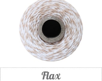 10 yards/ 9.144 m Flax Light Khaki & White Bakers Twine