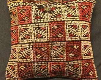 Kilim Rug Pillow, Kilim Pillow, Handmade Pillow Cover, Ethnic Pillow, Turkish Kilim Pillow, Vintage Pillow, Boho Pillow, Turkish Cushion