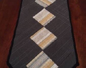 Modern Quilted Table Runner, Industrial