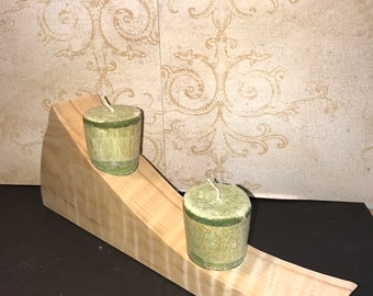 Candle holder Tiger Maple