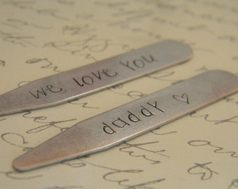 mens personalized collar stays groomsmen dad fathers day man gift