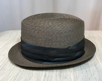 Dobbs Summer Fedora in Brown with Bias Pleated Band