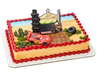 Cars Radiator Springs Cake Topper