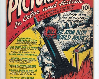 Picture News #1 Classic Atomic BOMB  Cover G/VG 3.0 Kirby ART