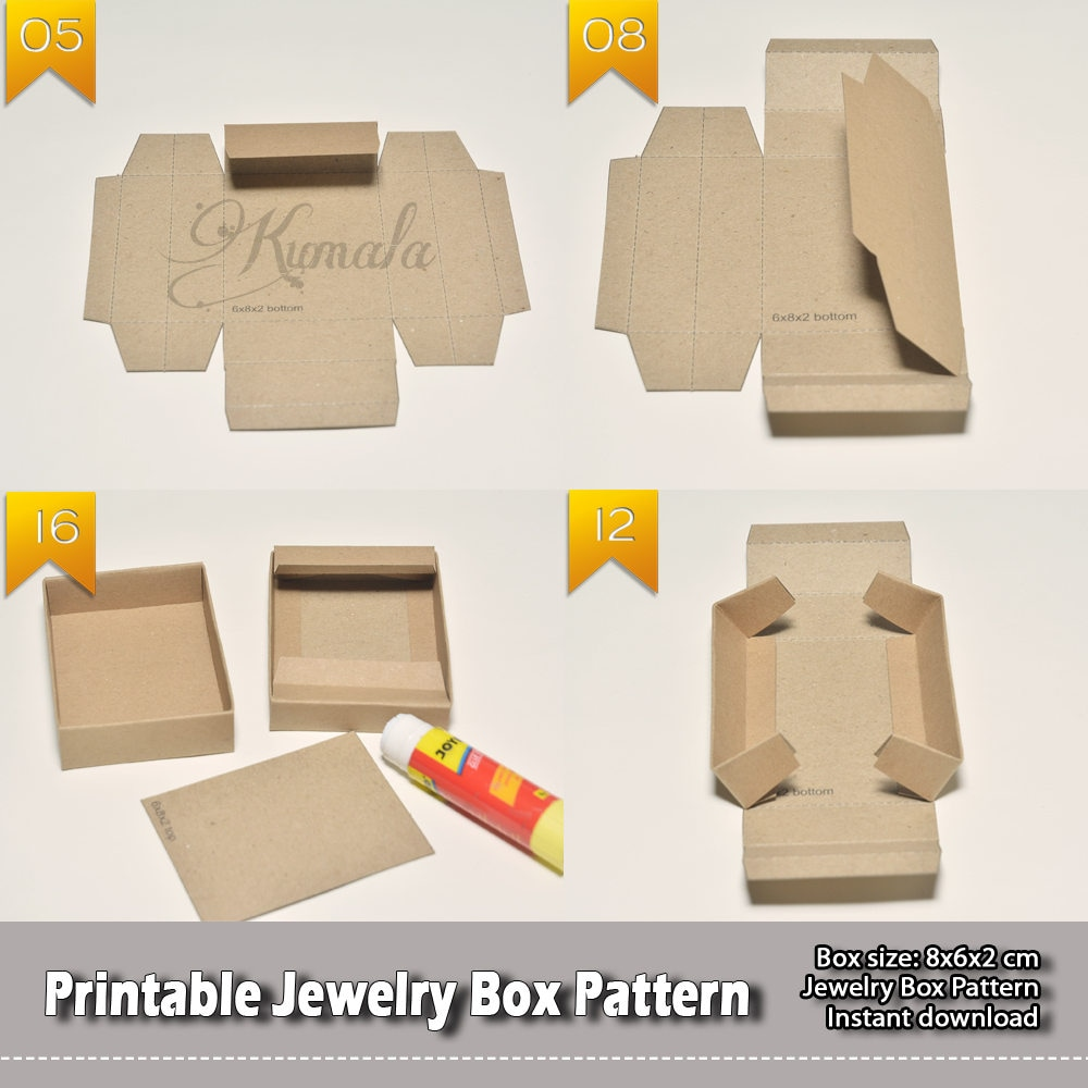 Printable Jewelry Box Pattern / Packaging Ready To Use / Box ...