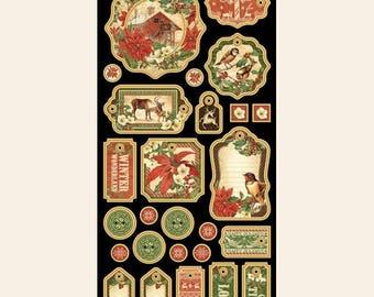 Graphic 45 Winter Wonderland Chipboard, SC007740