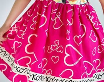 Winnie Pinnie Dress PDF Sewing Pattern, including sizes 12 months - 8 years,  Girls Dress Pattern