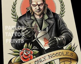 David Lost Boys Tattoo Flash Art Print