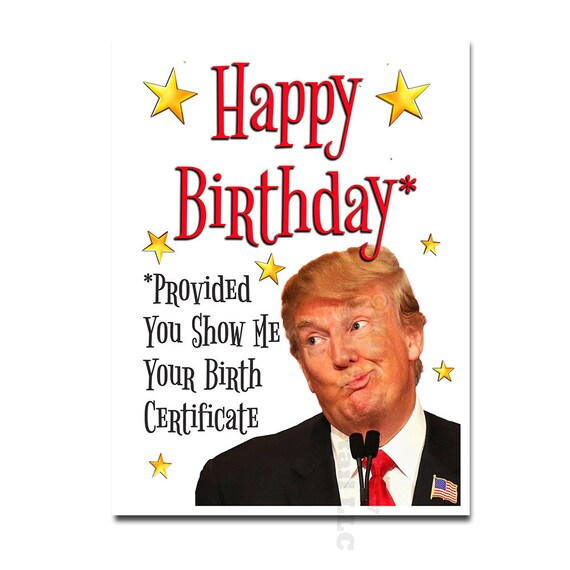 Donald Trump Birthday Card Funny Free Picture Greetings