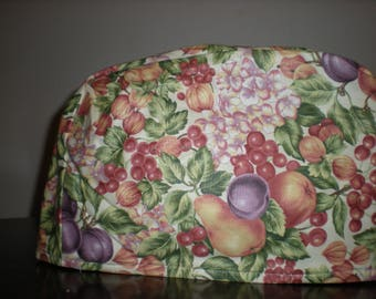Two Slice Toaster Cover - Fruit Print with dogwood blossoms