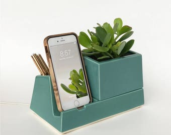 STAK Sprout Planter Dock, Teal