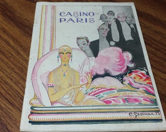 1925 1926 Casino de Paris France Program Art Deco Cover Antique Theatre Book