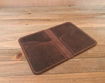 Leather Wallet, Personalized Leather Wallet, Front Pocket Slim Design, Minimalist Credit Card Wallet, Men's Wallet,  FREE Shipping
