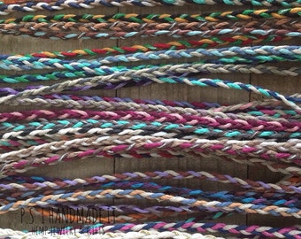 Three Color - Tie On - Friendship Bracelets or Anklets - Toddler to Adult sizes