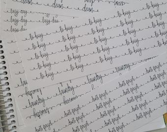 Fancy Script/Wording Stickers
