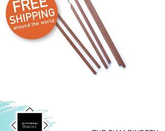 Eco-friendly, wooden square pencils