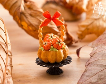 MTO -Miniature Food - Autumn Bread Basket - 12th Scale Miniature Food