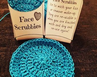 100% cotton face scrubbies