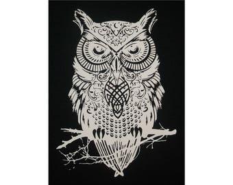 Celtic Owl Coileach-Oidhche T-Shirt WH