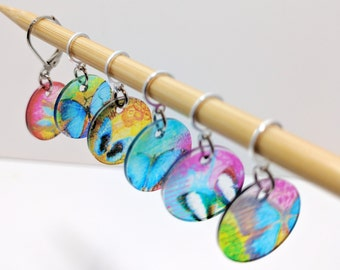 Translucent Butterfly Stitchmarkers for Knitters or Crocheters