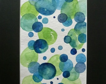 watercolour painting abstract