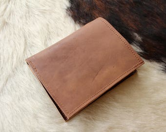 Brown men's wallet. man leather wallet. leather wallet