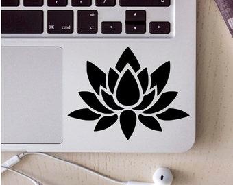lotus flower sticker, laptop skin, laptop decal, laptop sticker, lotus decal, lotus flower, computer sticker, vinyl decal, coffee mug decals