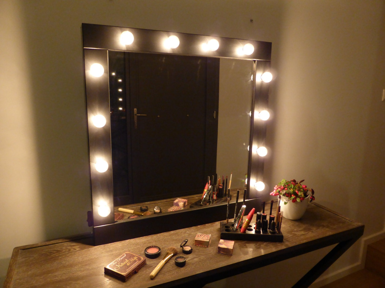 stand up vanity mirror.  zoom Vanity mirror with lights makeup wall hanging or