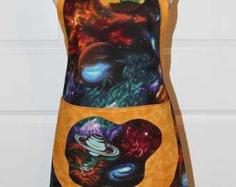 Space Designed Out Of This World Cobbler, Chef Apron
