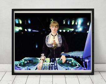 A DJ at the Folies-Bergèr- Original Collage Artwork available in Poster and Canvas.