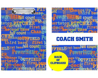 Baseball Coach Gifts - Coach Clipboard - Coach Gifts - Baseball Coach Gift Ideas - Personalized Clipboards for Coaches