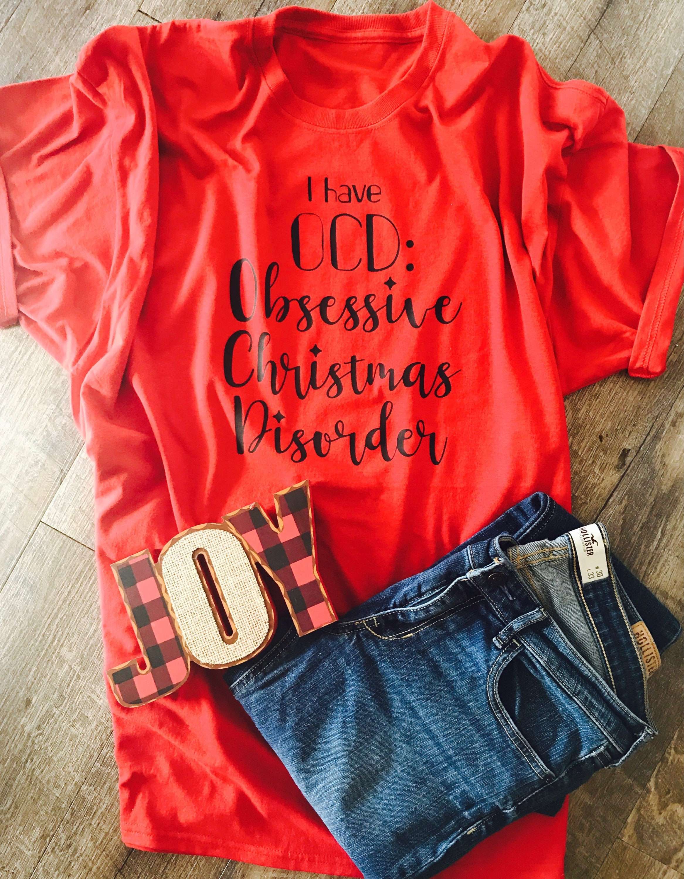 I have OCD obsessive Christmas disorder funny christmas t