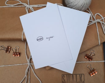 Eco friendly Greeting card - 'Oyster card'