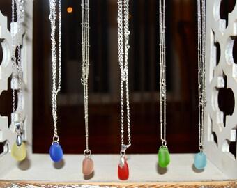 Petite Sea Glass Pendant Necklace