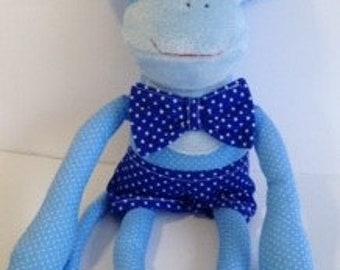 jordan shoes 4 blue and white stuffed animal monkey with banana
