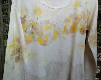 Upcycled eco dyed long sleeve tee