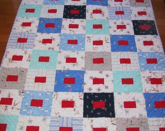 Best of Sarah Jane Boy Quilt - Baby, Toddler, Crib, Nursery - Flannel Backing