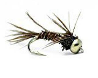 Pheasant Tail Bead Head Nymph Fly Fishing Trout Flies - One Dozen Wet Flies - 4 Size Assortment 12,14,16,18 (3 of Each Size)
