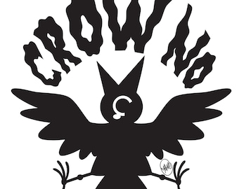 Crow No! Sticker