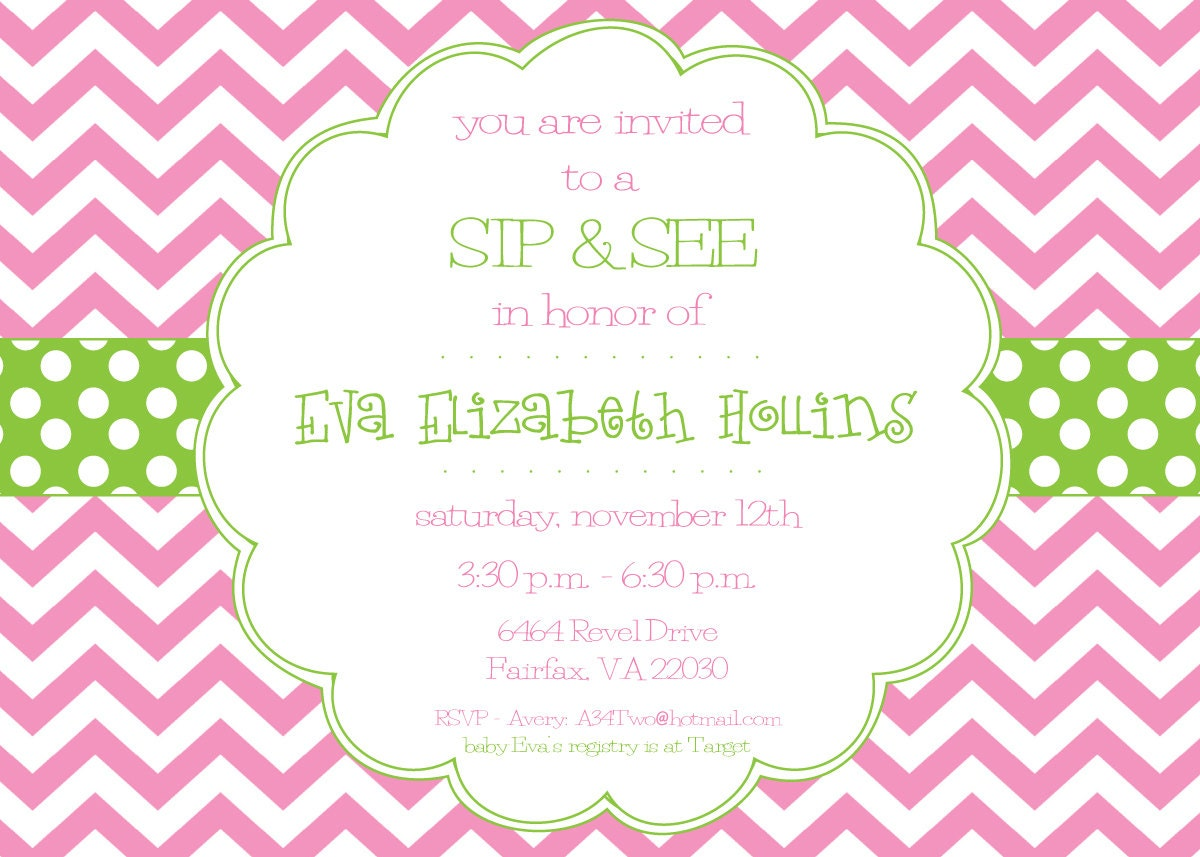 pink and green invitation - Yeni.mescale.co