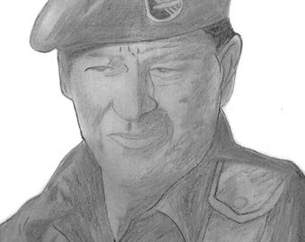 John Wayne as the Col in Green Beret (head only)