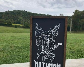 Mothman Farmhouse Sign