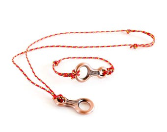Necklace For Men, Infinity Necklace Men, Necklace For Him With Rock Climbing Figure Eight Descender
