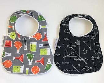 Science Bib   Minky Bib   Math Bib   Chemistry Bib   Science Baby   Baby Gift   Shower Gift   STEM Girl   STEM Baby
