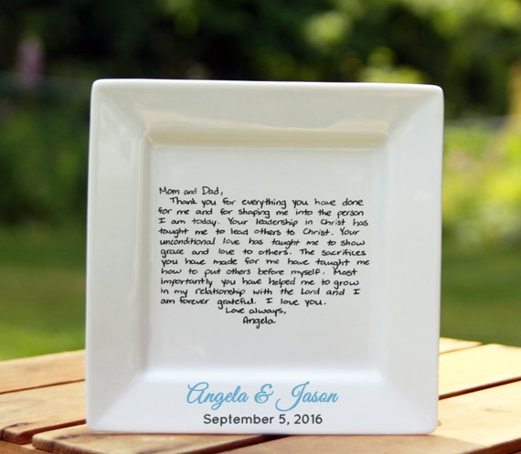 Handwritten letter plate 6 inch wedding or christmas expocarfo