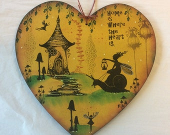Magical fairy Mdf large heart