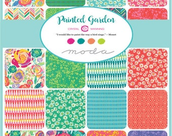 Painted Garden - Bundle - Complete Painted Garden Collection - Crystal Manning - Moda Fabrics
