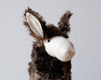 Stuffed Llama, Llama Plush, Cute Soft Baby Toy, Furry Plush Hoofed Animal, South American Alpaca