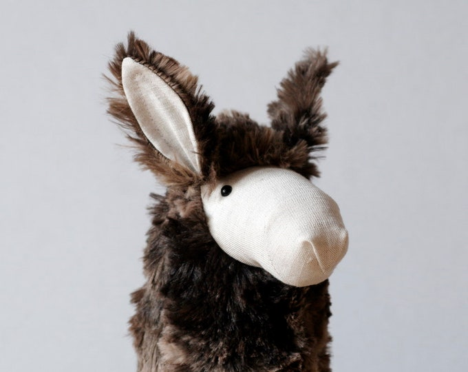 Stuffed Llama, Llama Plush, Cute Soft Baby Toy, Furry Plush Hoofed Animal, South American Alpaca