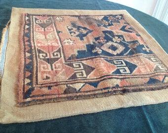 Antique rug floor cushion
